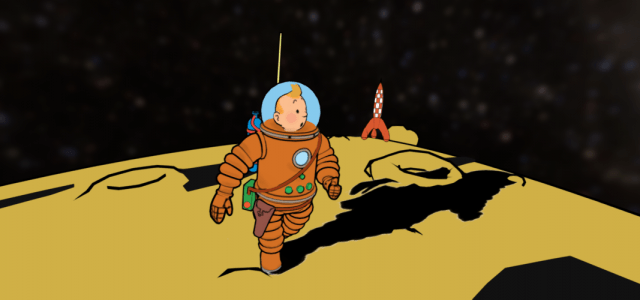 Tintin, the first man on the moon