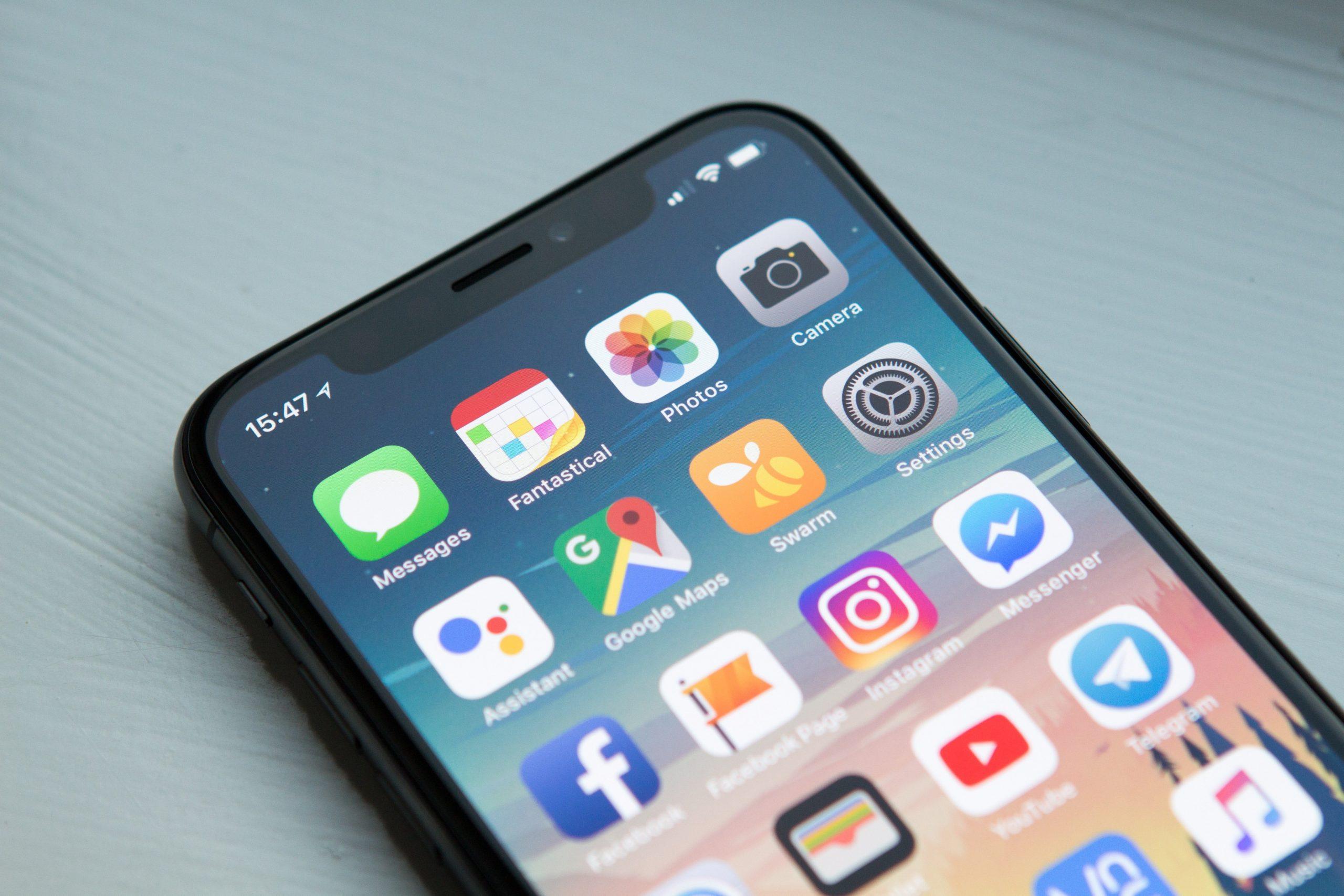 Aplicaciones en un dispositivo móvil