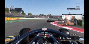 """""""Kun"""" Aguero jugando Formula 1 / twitch.com"""
