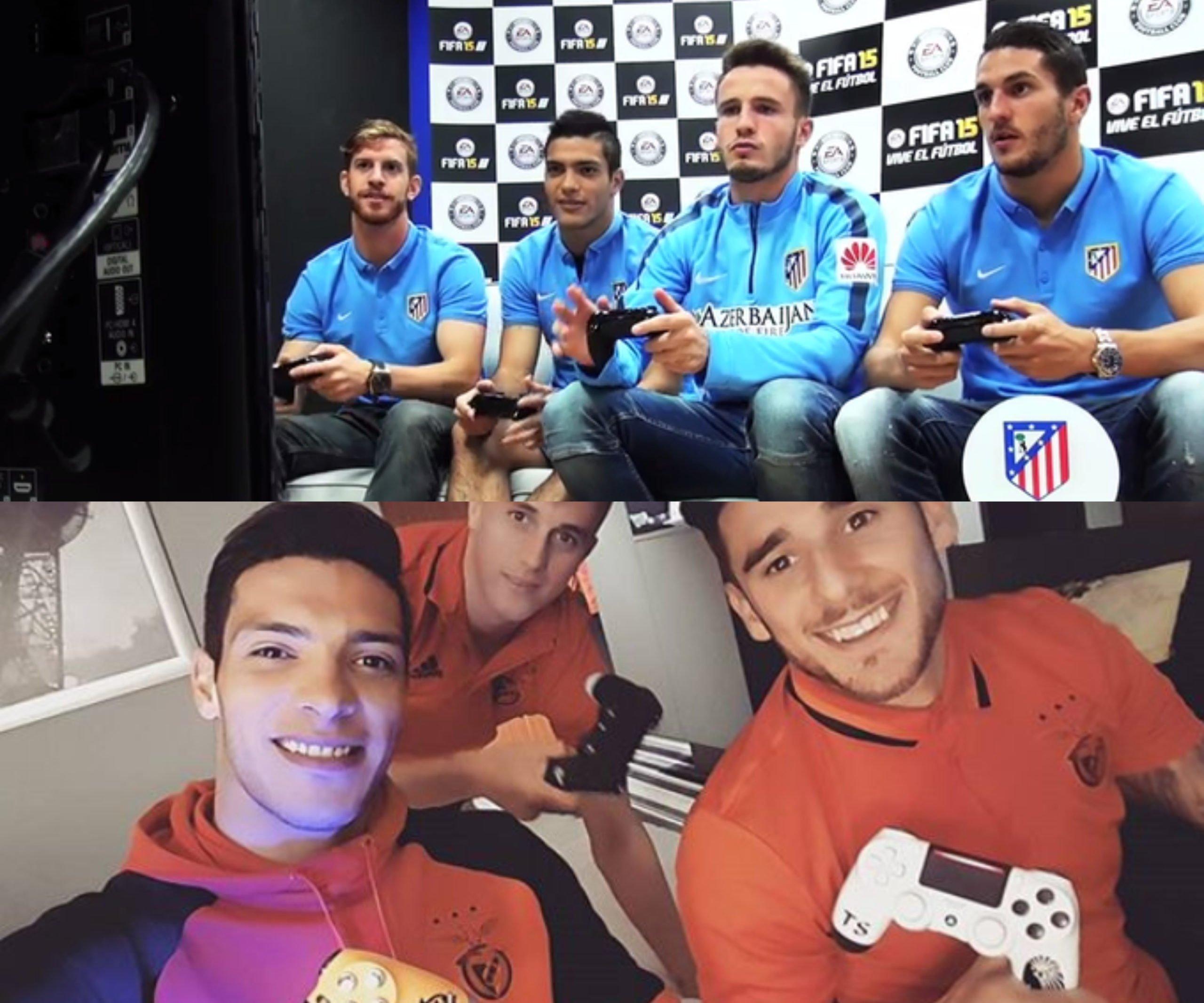 Algunos deportistas profesionales jugando a videojuegos