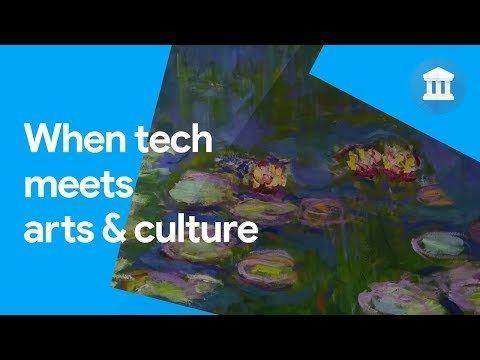 Captura de pantalla del vídeo descriptivo de Google Arts & Culture con tours virtuales en las tiendas de aplicaciones.