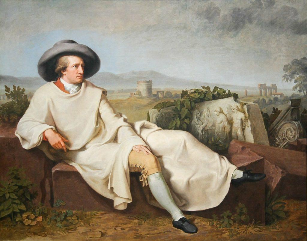 Painting of the German poem Johann Wolfgang von Goethe