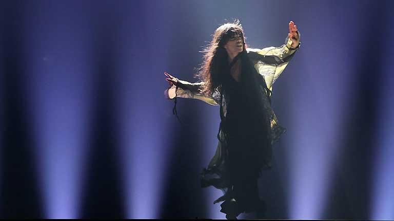 """Imagen de Loreen interpretando """"Euphoria"""" en el Festival de 2012"""