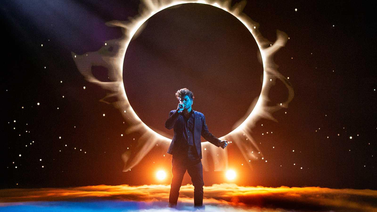 Fotografía de Blas Cantó durante la gala de preselección de Eurovisión