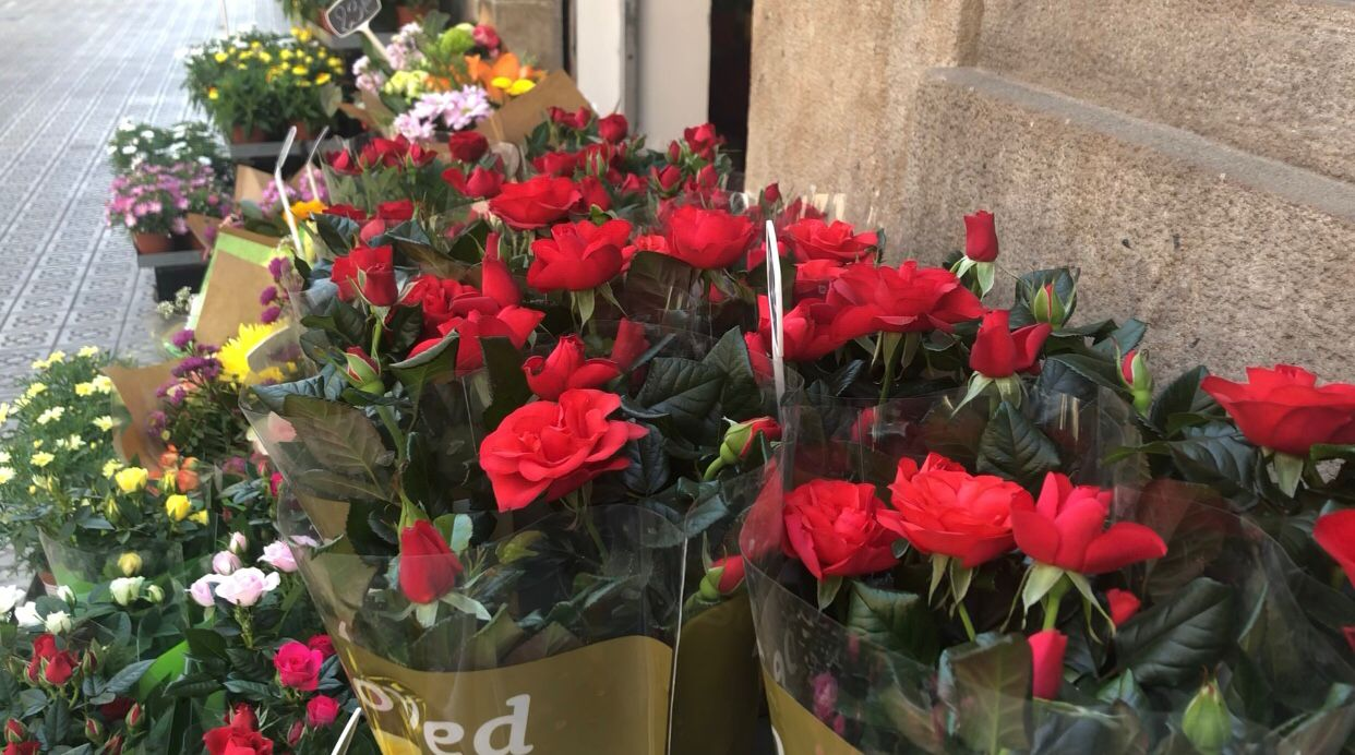 Rosas de la floristeria Herbs Balmes, Barcelona / Aulanews