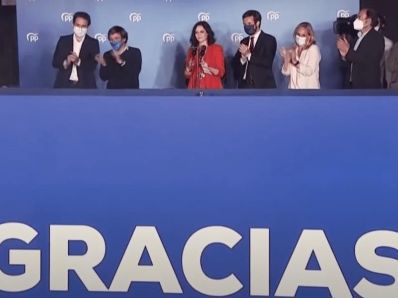 Ayuso hunde a PSOE y Cs y acaba con Iglesias